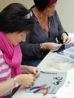 students making jewellery