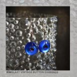 jewelart vintage button earrings