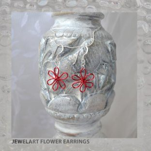 jewelart flower earrings