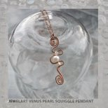 jewelart venus pearl copper squiggle pendant
