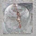 jewelart venus pearl copper squiggle pendant
