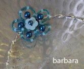 barbara's lovely experimented using a button centrepiece