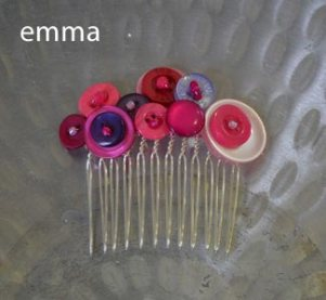 emma's lovely experimental button and beads haircomb