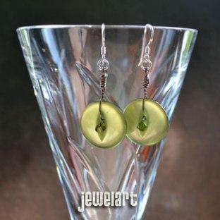 jewelart vintage button earrings