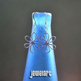 jewelart lilac flower earrings