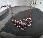 jewelart amethyst squiggle necklace