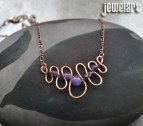 jewelart amethyst squiggle necklace
