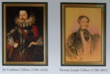 Sir Cuthbert Clifton 1584-1634 and Thomas Joseph Clifton 1788-1851