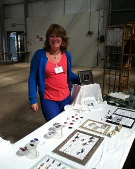 jewellery artist at Art in the Pen, Carlisle 2015