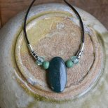 bebeady jewellery class leather necklace
