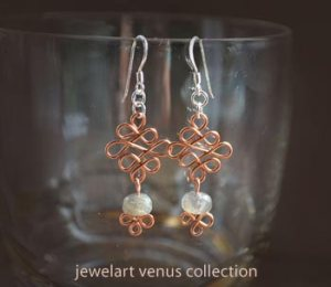 venus celtic gem earrings