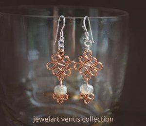 venus celtic gem earrings