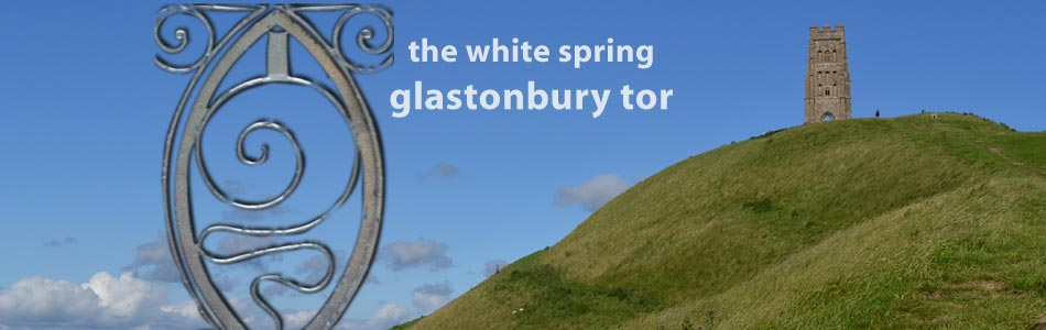 glastonbury tor white spring
