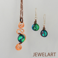 jewelart venus copper fused glass designs