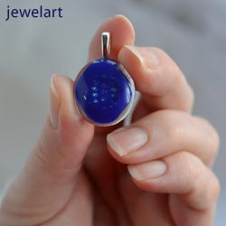jewelart abstract glass pendant