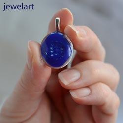 jewelart abstract glass pendant
