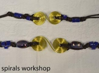 spiral jewellery created at the workshops