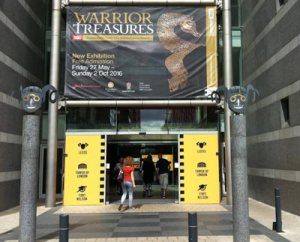 The warrior Treasures exhibition at Leeds Royal Armouries Museum