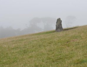 standing stone near Hemmick Beach