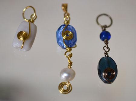 Jenny's creative wirework pendants