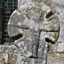 stone cross at Sancreed Church