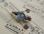 jewelart sprial button brooch