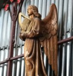 angel at St Cuthberts Church in Wells