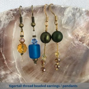 40-45 minute taster - beaded tigertail earrings