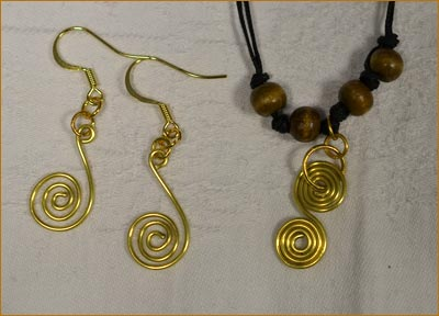 anglo-saxon jewellery making pieces created by students