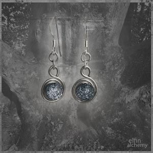 elfin alchemy spiral glass earrings